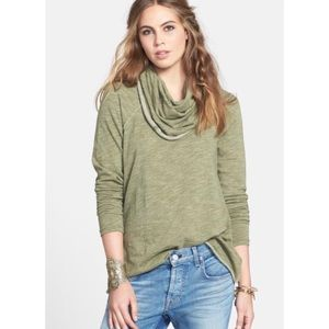 Free People Beach Cacoon Cowl Neck Pullover